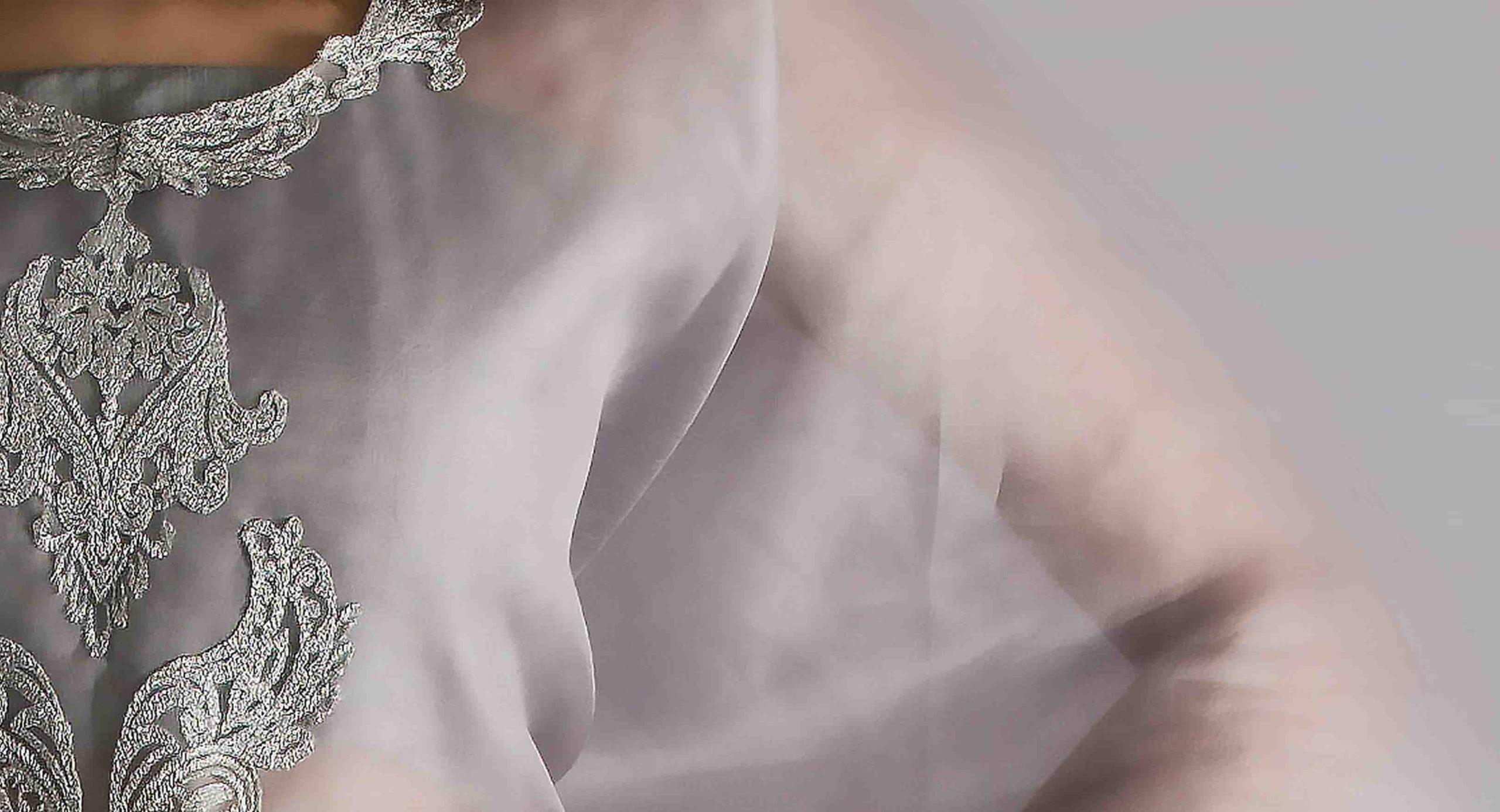 Signature long cape in handwoven silk -3633