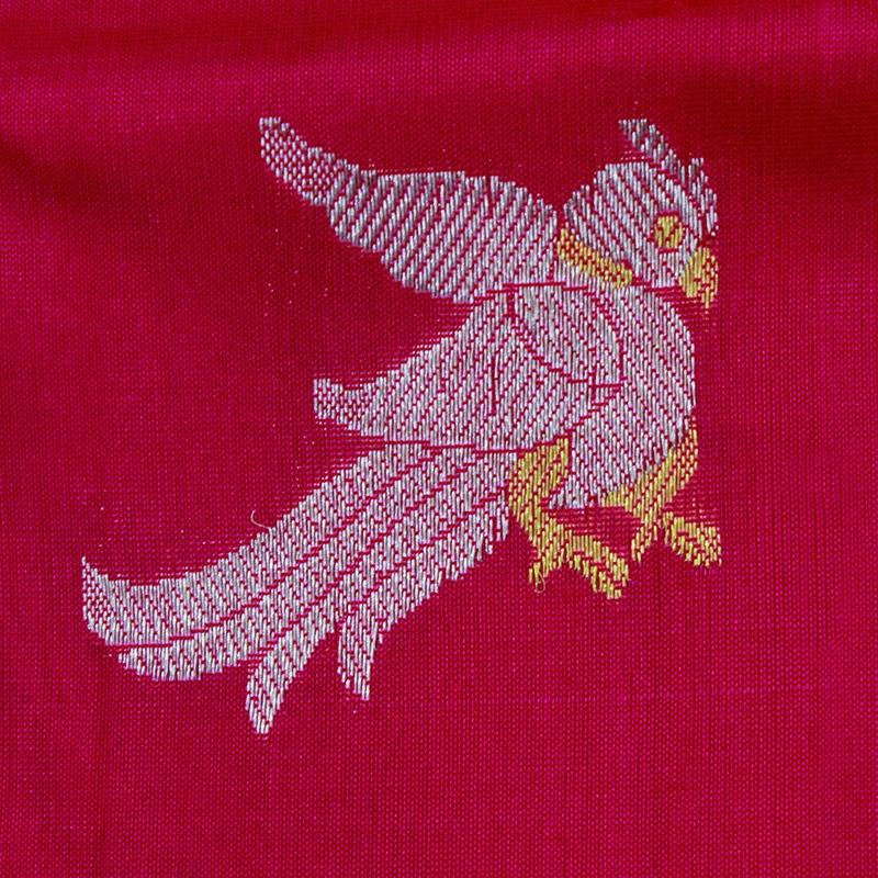 Fuschia Pink Parrot Venkatgiri Silk Saree-5325
