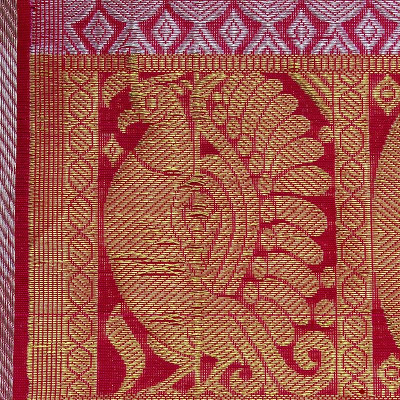 Fuschia Pink Parrot Venkatgiri Silk Saree-5324