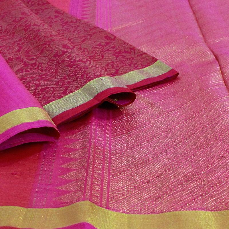Pink Shikargarh Kanchipuram Silk Saree-5634