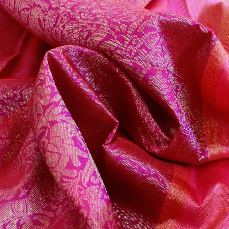 Pink Shikargarh Kanchipuram Silk Saree-5635