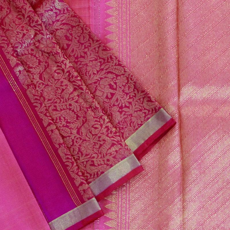 Pink Shikargarh Kanchipuram Saree-0