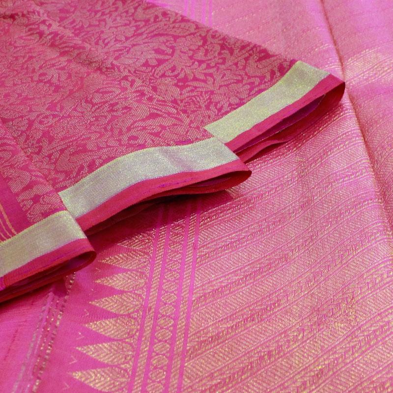 Pink Shikargarh Kanchipuram Saree-5664