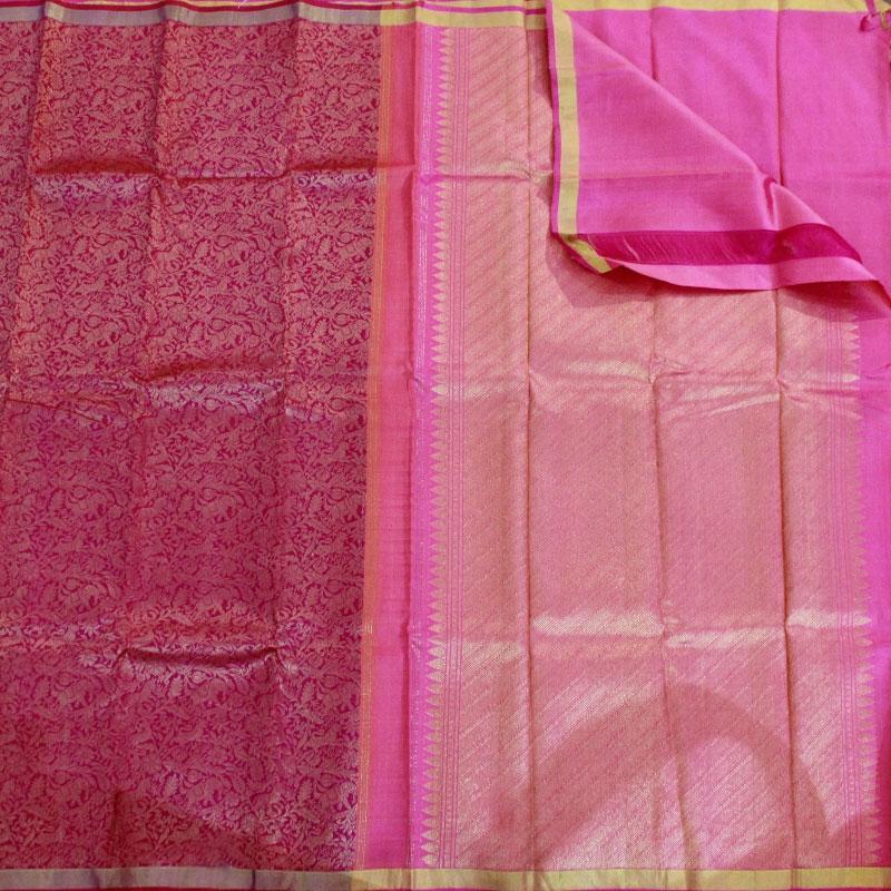 Pink Shikargarh Kanchipuram Saree-5668