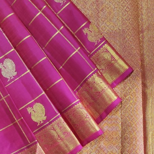 Fuschia Pink Kanchipuram Saree