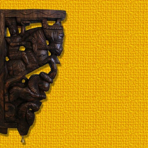 Horse, Parrot And Lion Yali Wooden Bracket-0