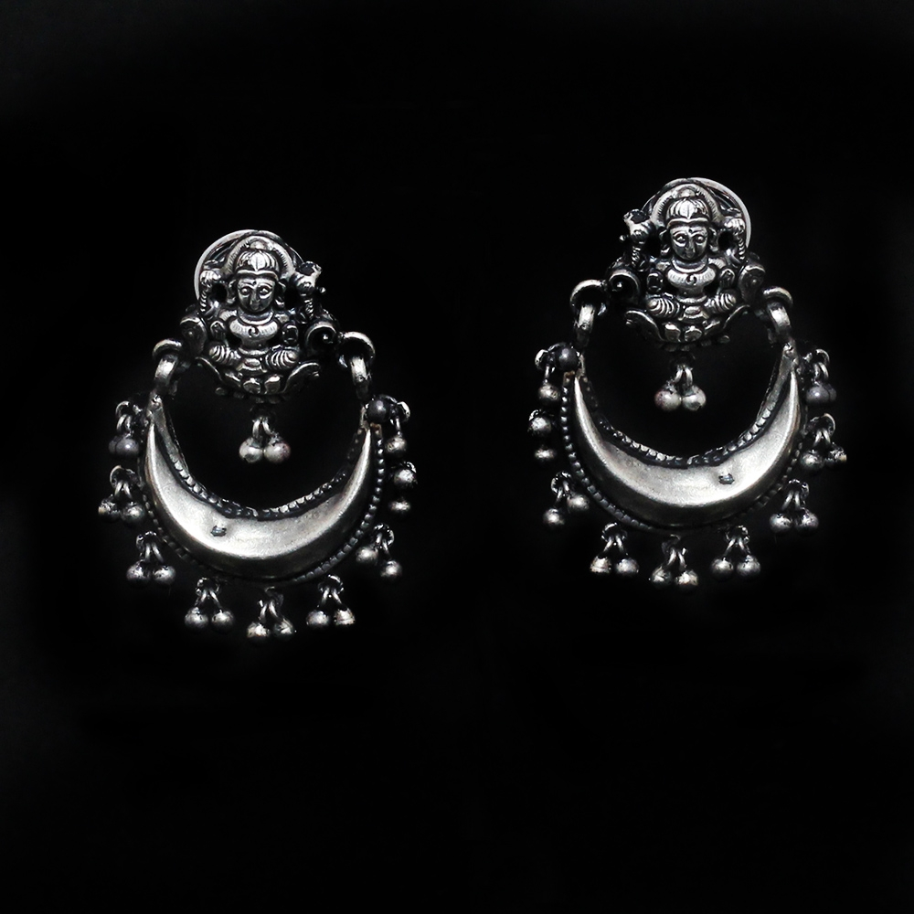 Silver Lakshmi Chandbali-0