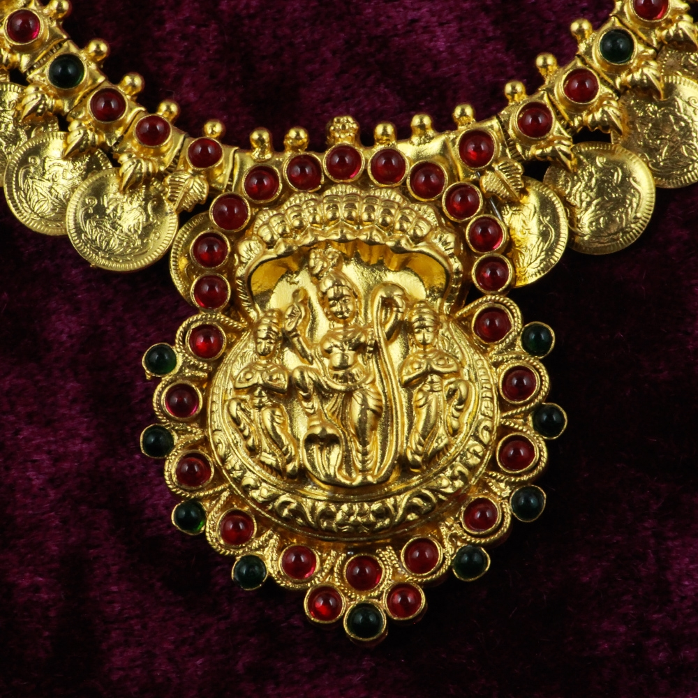 Gold-plated Silver Temple Necklace-8482