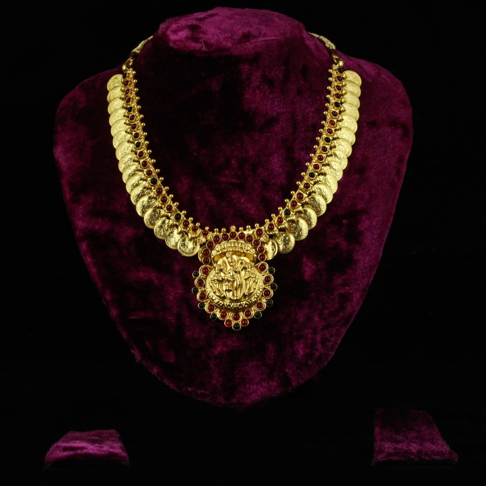 Gold-plated Silver Temple Necklace-0