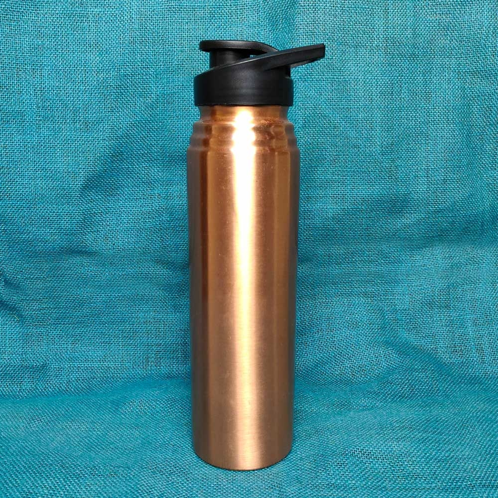 Copper Bottle with Black Lid (1 litre)-0