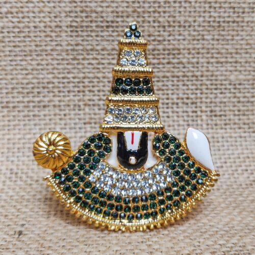 Miniature Brass Idol of Lord Venkateshwara-0