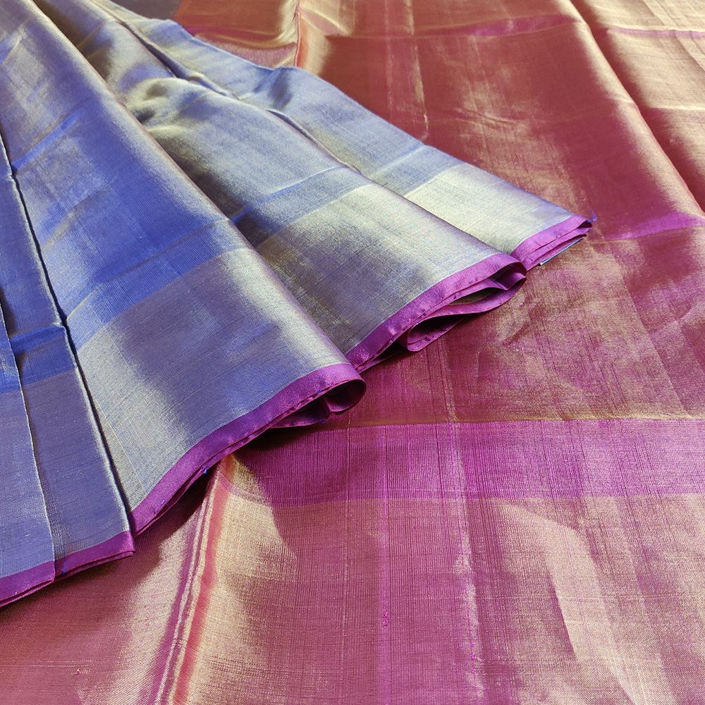 Purple And Magenta Uppada Silk Saree-8163