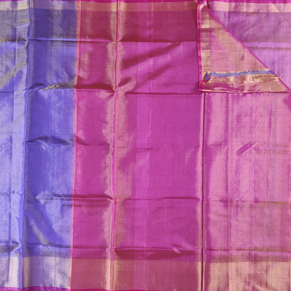 Purple And Magenta Uppada Silk Saree-8164