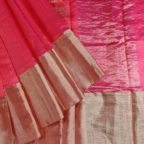 Blossom Pink Chanderi Silk Saree-0