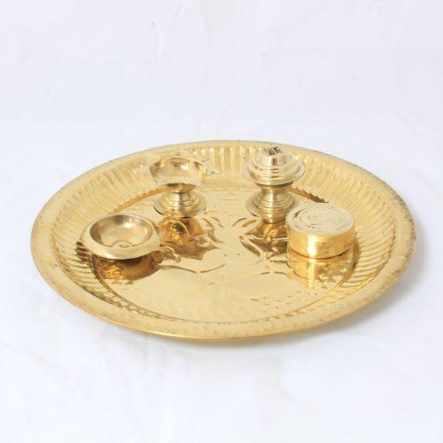 Brass Puja thali set-0