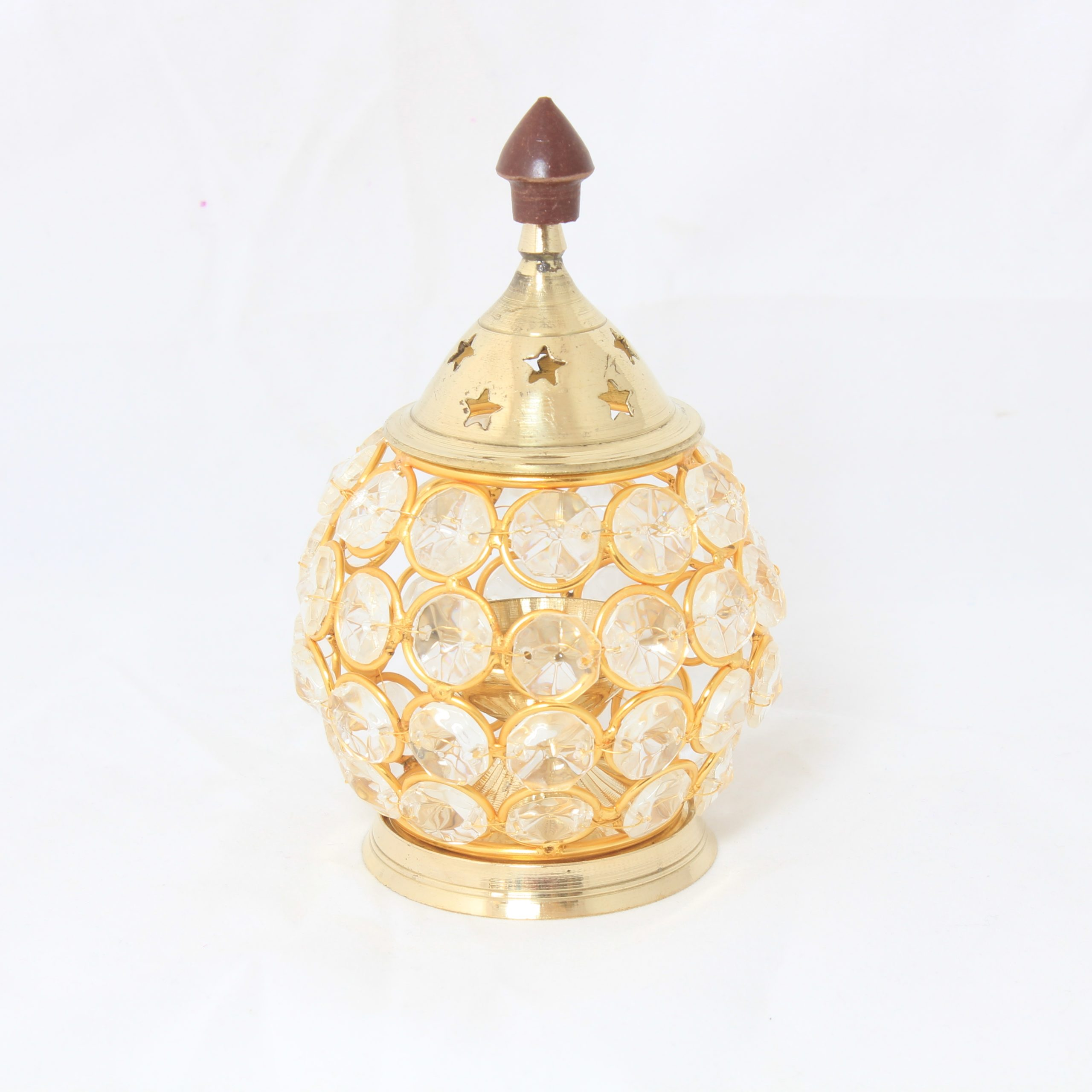 Big Crystal star brass Lamp-0