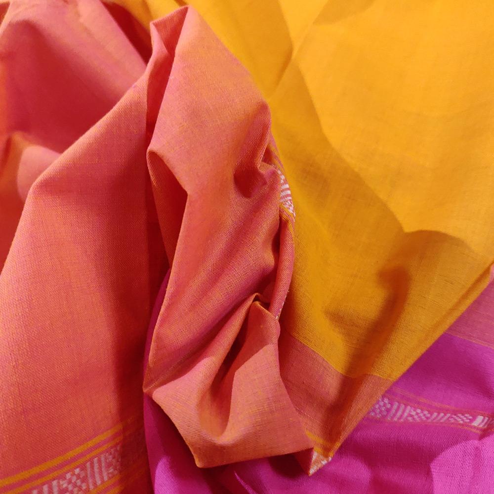 Mango Yellow Kanchipuram Handloom Cotton Saree-9740