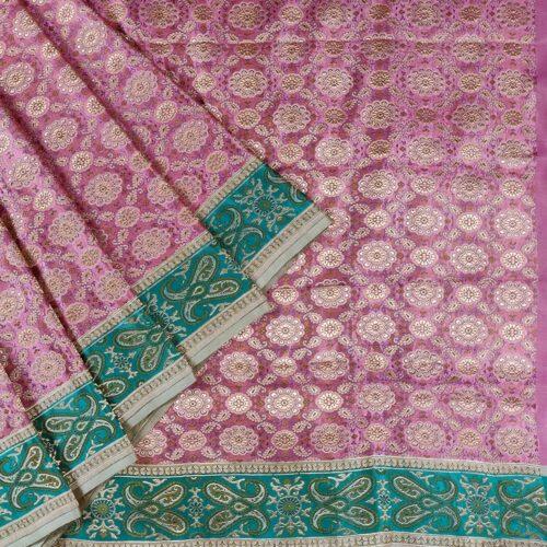 Pink Brocade Banarasi Saree-0