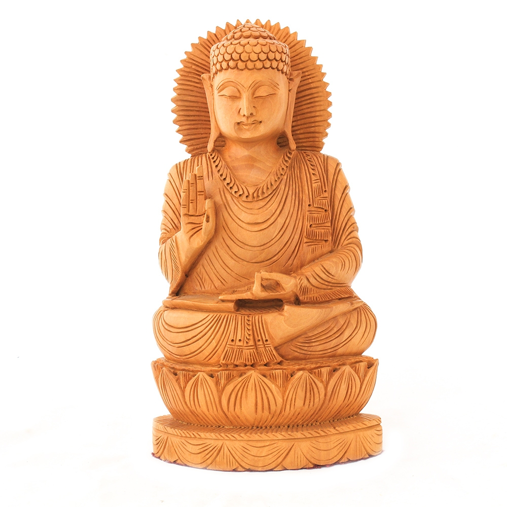 Wooden Buddha Show piece-0