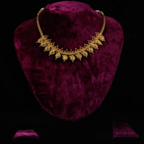 Gold-plated Pure Silver Necklace with Kempstones-0