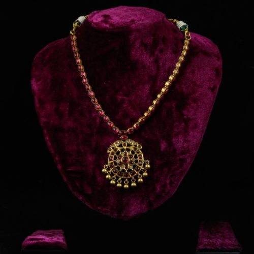 Kundan Gold-plated Silver Necklace-0