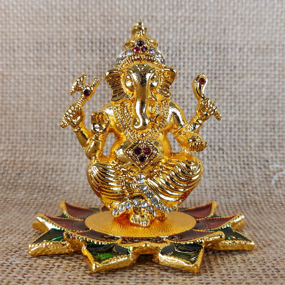 Hanpainted Ganesha Idol-0