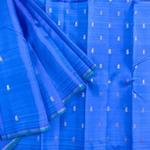 Blue Paisley Kanchipuram Silk Saree-0