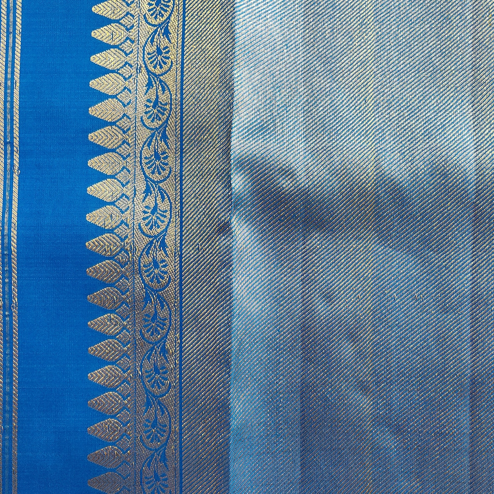 Ink Blue Kanchipuram Silk Saree-8698