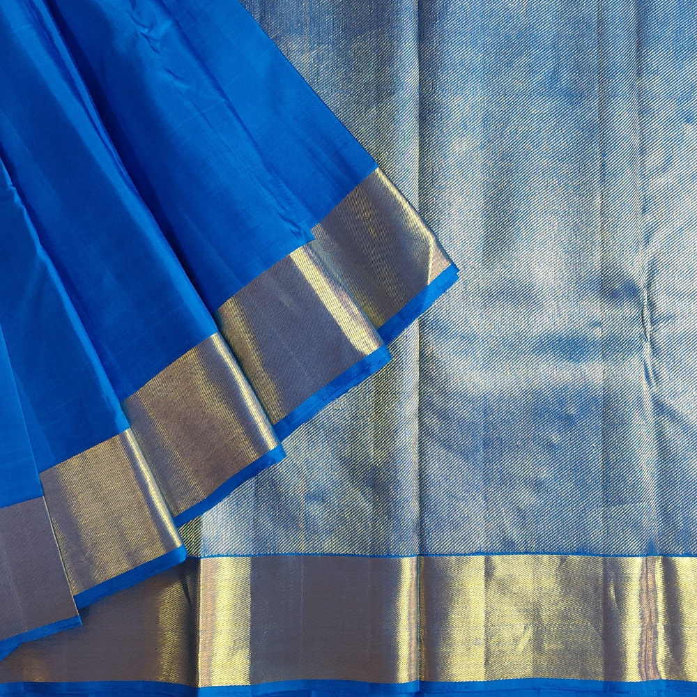 Ink Blue Kanchipuram Silk Saree-0