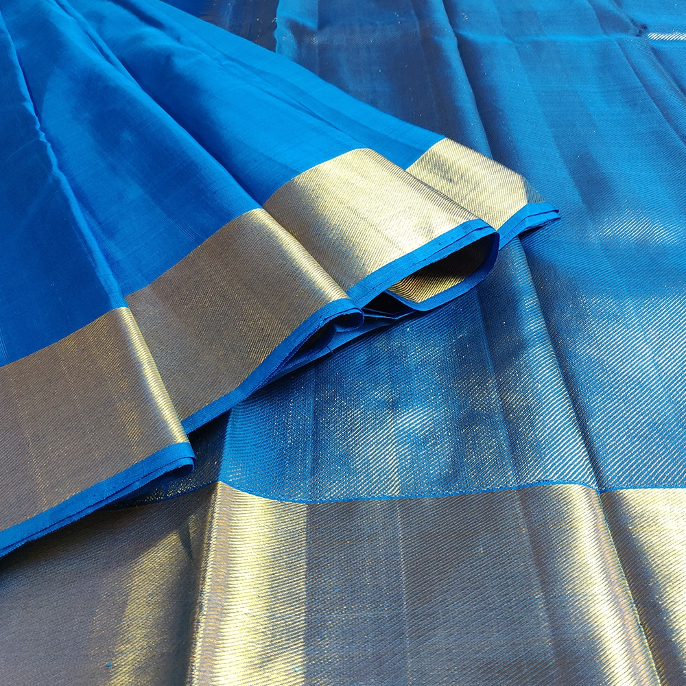 Ink Blue Kanchipuram Silk Saree-8696