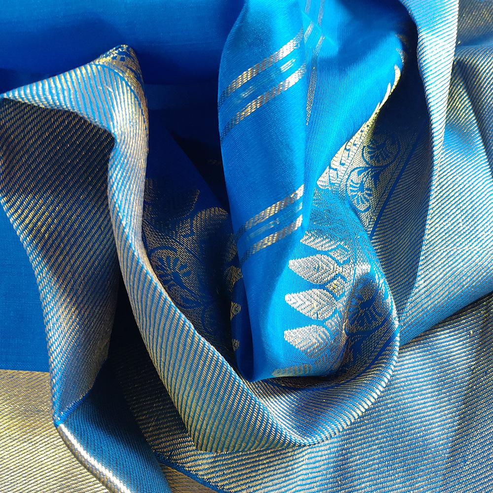 Ink Blue Kanchipuram Silk Saree-8694