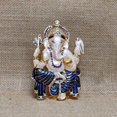 Miniature Brass Idol of Lord Ganesha-0