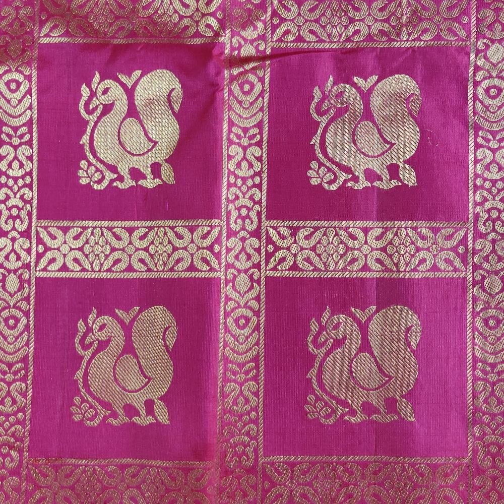 Pink Peacock Mubbagam Kanchipuram Saree-8677