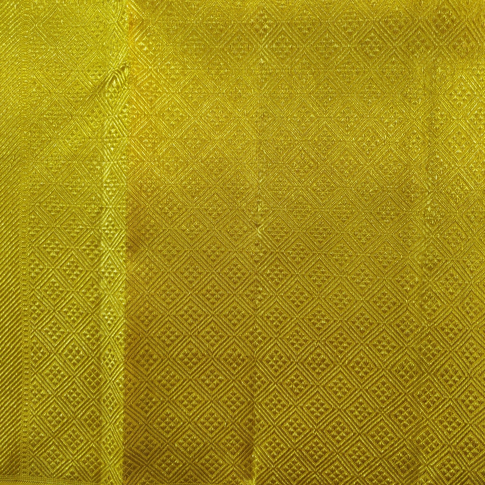 Golden Zari Yellow Kanchipuram Silk Saree-7653