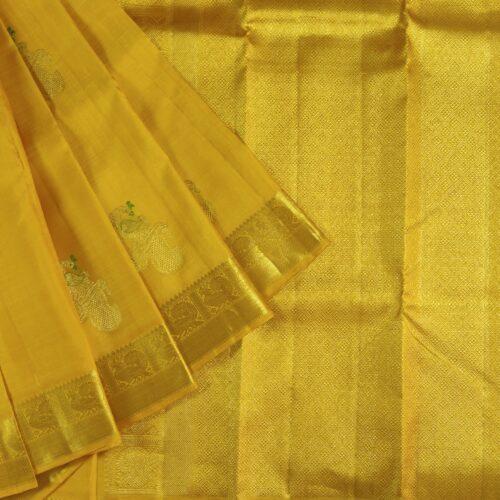 Golden Zari Yellow Kanchipuram Silk Saree-0