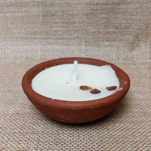 Natural Colored Earthen Wax Candles-0
