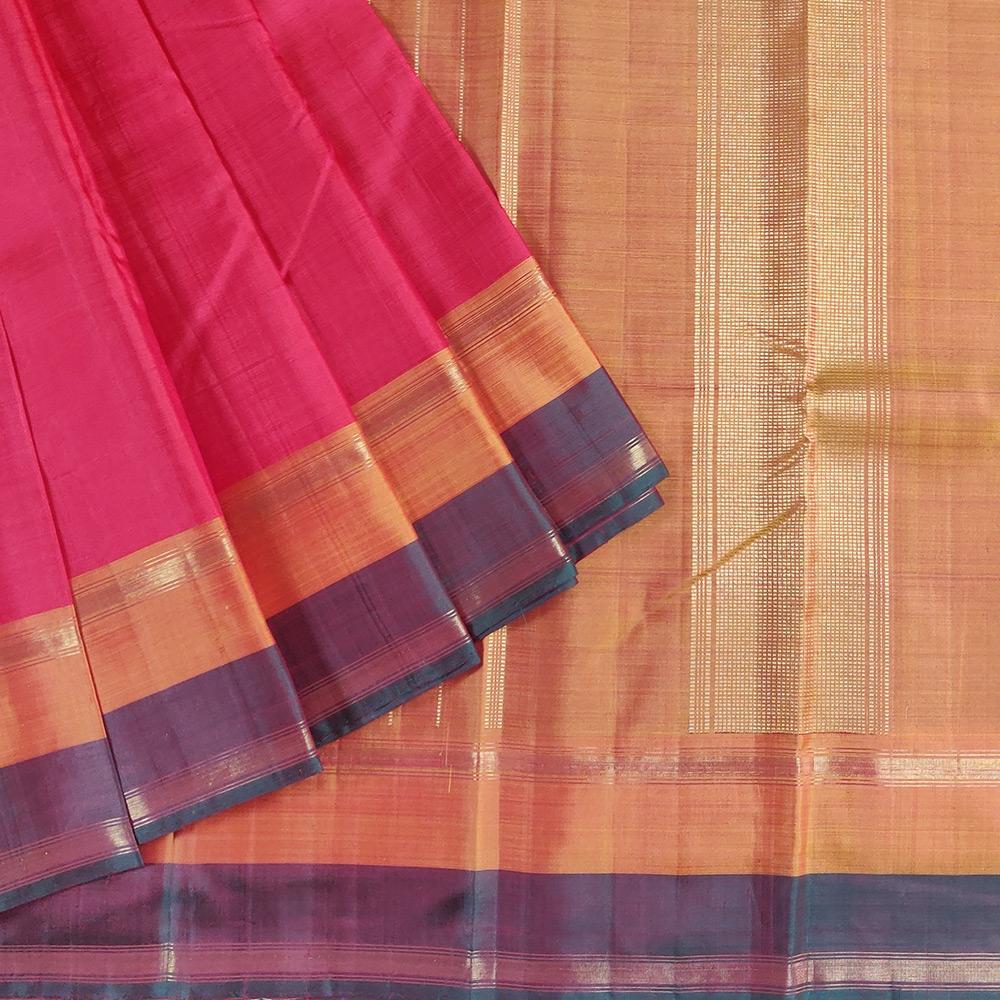 Pink Kanchipuram Silk Saree-0