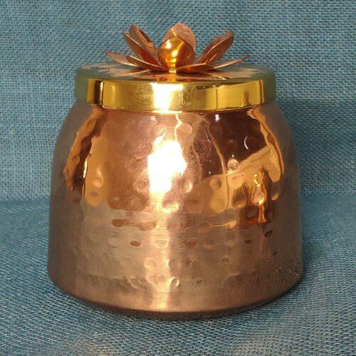 Lotus Copper DryFruit Container-0