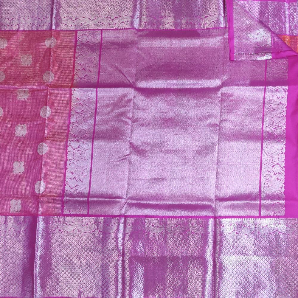 Red and Pink Kanchipuram Silk Saree