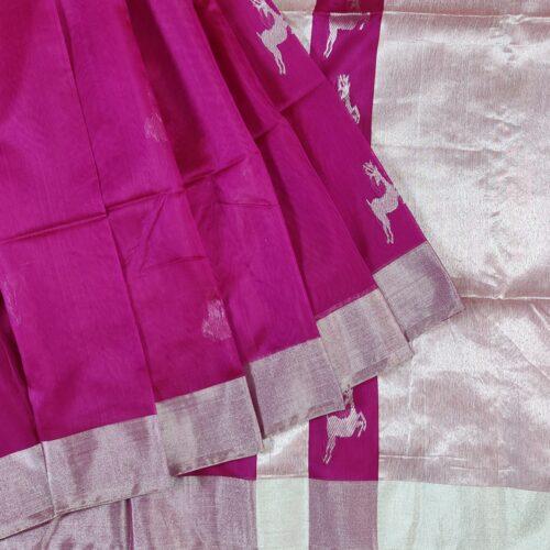 Pink Hiran Maheshwari Saree-0