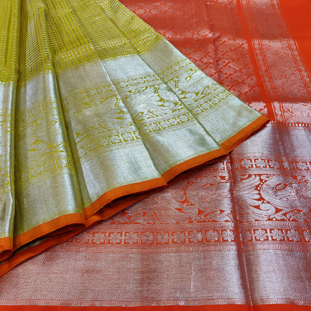 Golden Pear Kanchipuram Silk Saree
