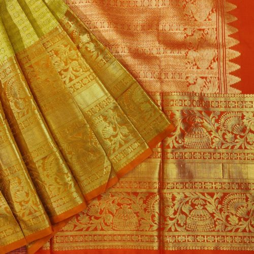 Grand Golden Kanchipuram Silk Saree