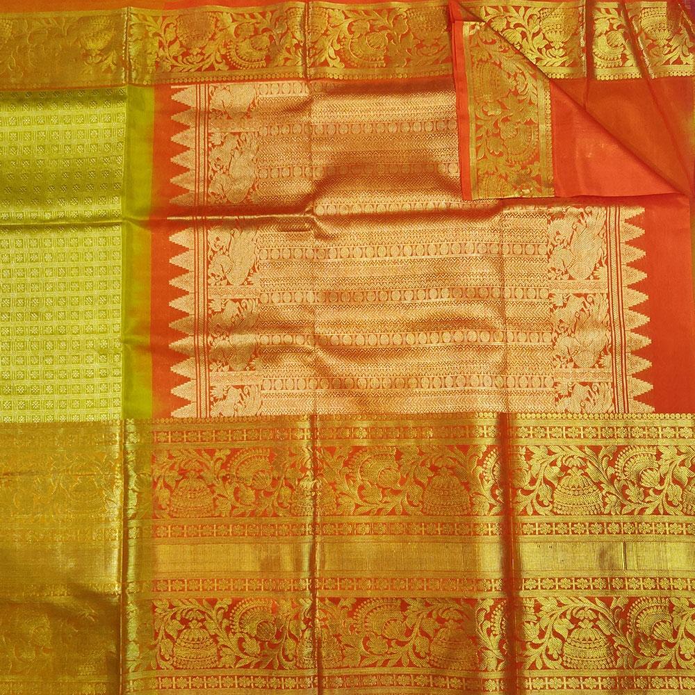 Grand Golden Kanchipuram Silk Saree