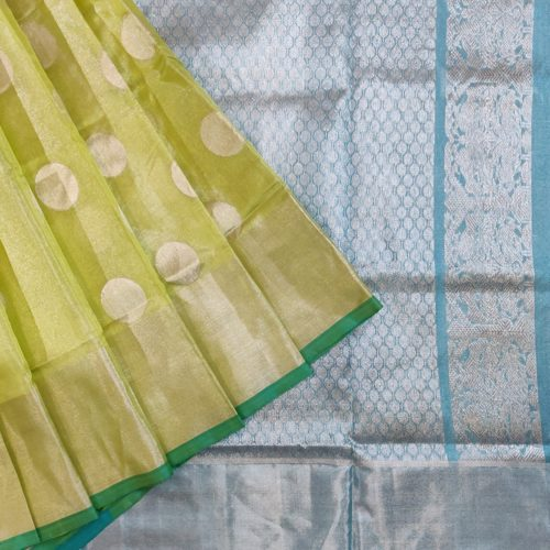 Golden Yellow Kanchipuram Silk Saree