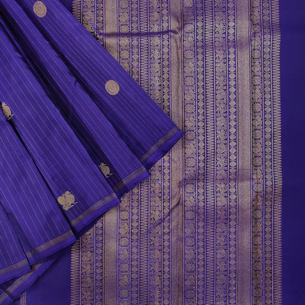 Blue Kanchipuram Silk Saree-0