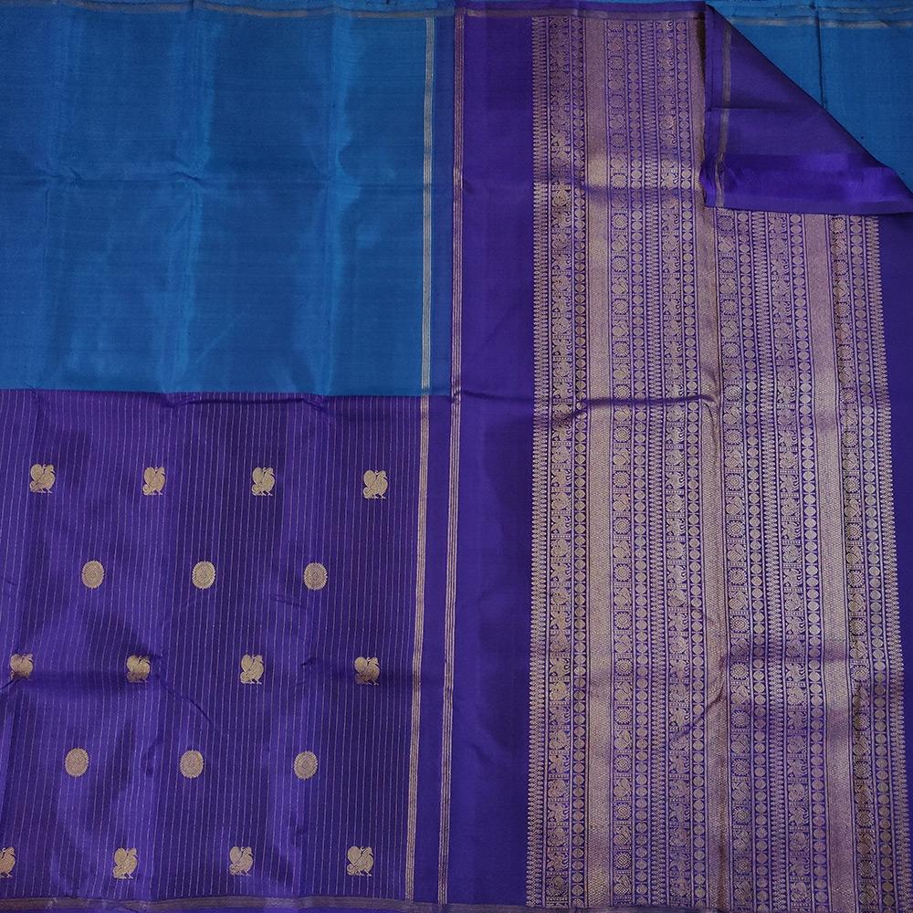 Blue Kanchipuram Silk Saree-9600