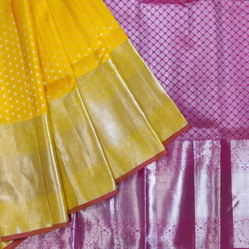 Amber And Pink Silk Saree