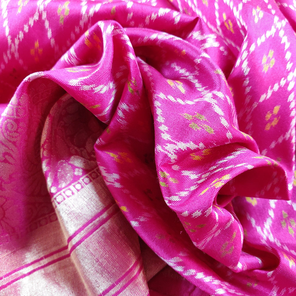 Pink Patola Silk Saree-7808