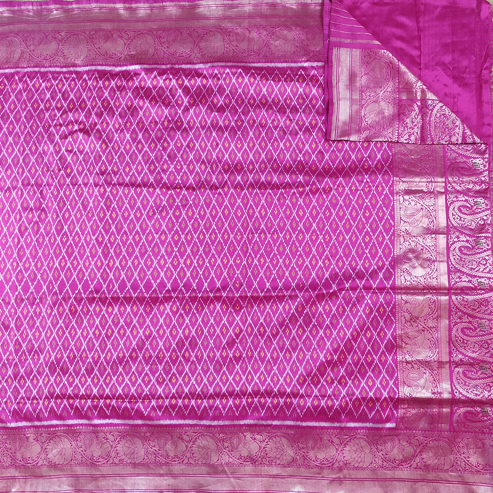 Pink Patola Silk Saree-7811