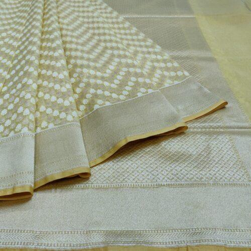 Golden Banarasi silk saree